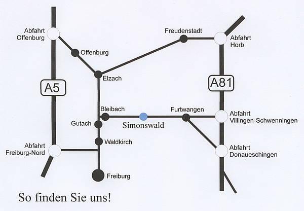 Anfahrt Simonswald Trailrun